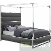 Enclave faux leather bed