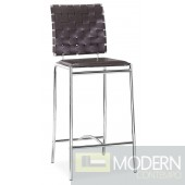 Criss Cross Counter Chair Espresso