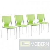 Zuo Modern 4-piece Lime GreenTrafico Dining Chair Set LOCAL DMV DEALS