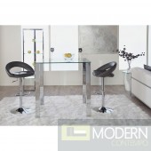 Modern  Glass Bar Table in Clear/Stainless Steel Finish  MCEST-380704AG