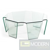 Circuit Coffee Table Clear Glass