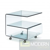 Voyage Side Table Tempered Glass