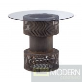 Rock n Roll Dining Table Rusted metal frame