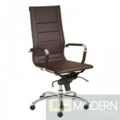 OWEN HIGH BACK OFFICE CHAIR BROWN
