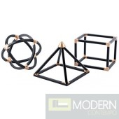 Geo Shapes (Set Of 3) Black