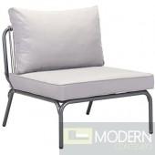 Zuo Armless Seat, Gray