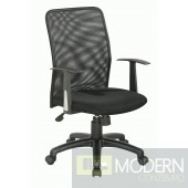 Upholstered Back Pneumatic Office Chair