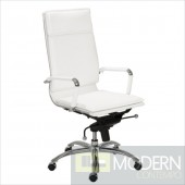 GUNAR PRO HIGH BACK OFFICE CHAIR WHITE