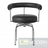 Le Corbusier Swivel Black Lounge Chair
