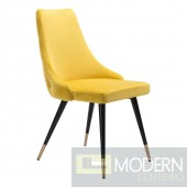 Piccolo Yellow Velvet Dining Chair (Set of 2) by ZUO  LOCAL DMV DEALS