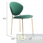 Clyde Green velvet  Dining Chair (Set of 2) by ZUO LOCAL DMV DEALS