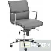 LEIF LOW BACK OFFICE CHAIR GREY