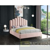 Lily Pink Velvet Upholstered Bed LOCAL DMV DEALS