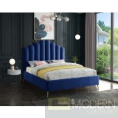 Lily Blue Velvet QUEEN Upholstered Bed LOCAL DMV DEALS