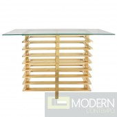 LeClair Stacked Console Table With Gold Finish