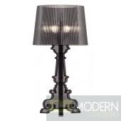 Salon L Table Lamp Translucent Black