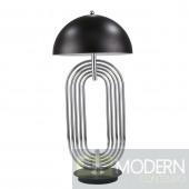 "JOS METAL 28"" ART DECO TABLE LAMP,SILVER"