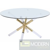 Pizzaz Acrylic Gold Coffee table