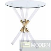 Pizzaz Acrylic Gold End table