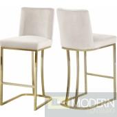 Helena IVORY velvet bar stool - GOLD -Instore Item DMV deals