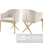 Zena X Cream Velvet dining chair GOLD Instore Item DMV deals
