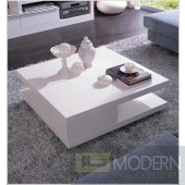 Modrest 5114C - Modern White Coffee Table