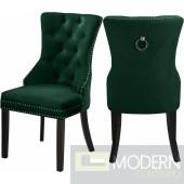 Amara Velvet Dining Chair - Set of 2 GREEN  Instore Item  DMV deals