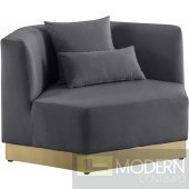 Athens Velvet Chair Grey