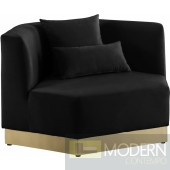 Athens Velvet Chair Black