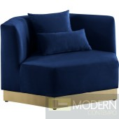 Athens Velvet Chair Blue