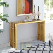 Gainesville Stainless Steel Console Table GOLD