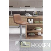 Cougar Leather Bar Stool Taupe - LOCAL DMV DEALS