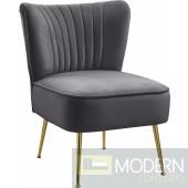 TESS Velvet Accent Chair GREY. Instore Item DMV deals