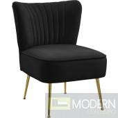 TESS Velvet Accent Chair BLACK. Instore Item DMV deals