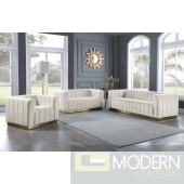 Marlon Cream Velvet Sofa INSTORE ITEM LOCAL DMV DEALS