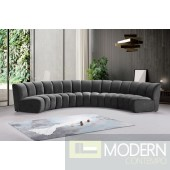Eternity Channel Tufted Velvet Modular Chair, Gray, 5 Piece INSTORE ITEM LOCAL DMV DEALS