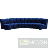Eternity Velvet Modular Sectional Sofa 4PC
