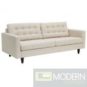 Mid Century Modern Euphoria beige sofa