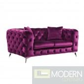 Palazzo Luxury Purple Velvet loveseat