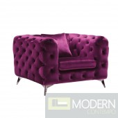 Palazzo Luxury Purple Velvet chair