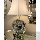 Perla Sparkle Mirrored 26-Inch One-Light Round Table Lamp