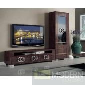 Guccio High Gloss Wenge 3-Door TV Stand *Made In Italy