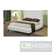 Piedmont Winged Nailback headboard Platform Bed with crystals