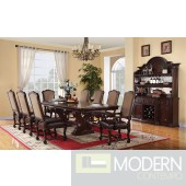 60285 Delphia Dining Table in Cherry by Acme w/Options