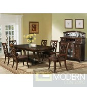ACW 60560 Keenan Dining Table in Dark Walnut by Acme w/Options
