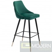 Piccolo Counter Chair Green Velvet
