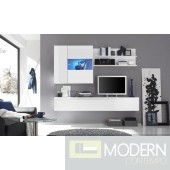 Modern Italian  White or Black TV Wall Entertainment Unit MCPRM H