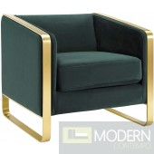 Alberta Accent Lounge Velvet Chair GREEN