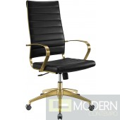 Elevate Stainless Steel High back Office Chair in Gold Black