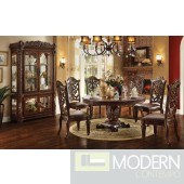 62020 Vendome Round Dining Table in Cherry by Acme w/Options